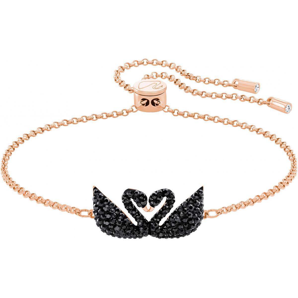 Bracelet Swarovski 5344132 - Bracelet Cristaux Swarovski doré rose Femme