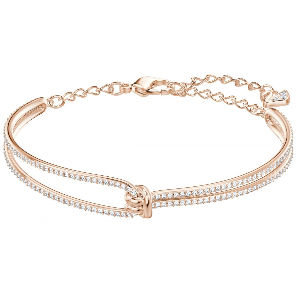 Bracelet Swarovski Lifelong Bangle - Bracelet Acier Or Rose Femme