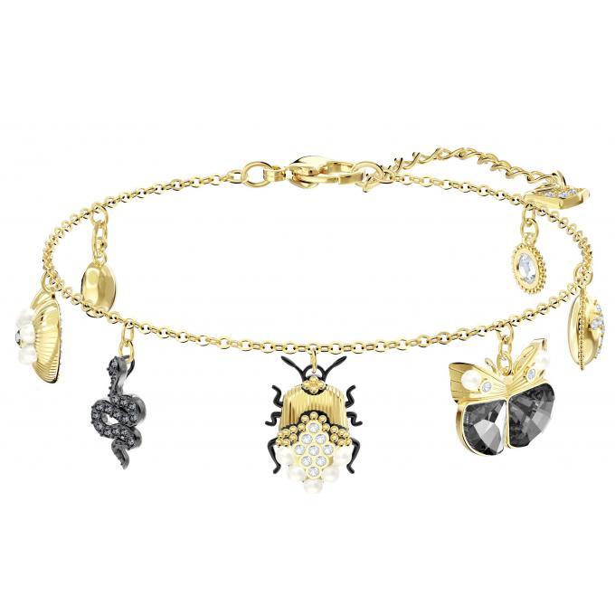 Swarovski Féeriques Plus Doré Femme Bracelet Acier D'infos Animaux 5416774 Bijoux DH2IW9E