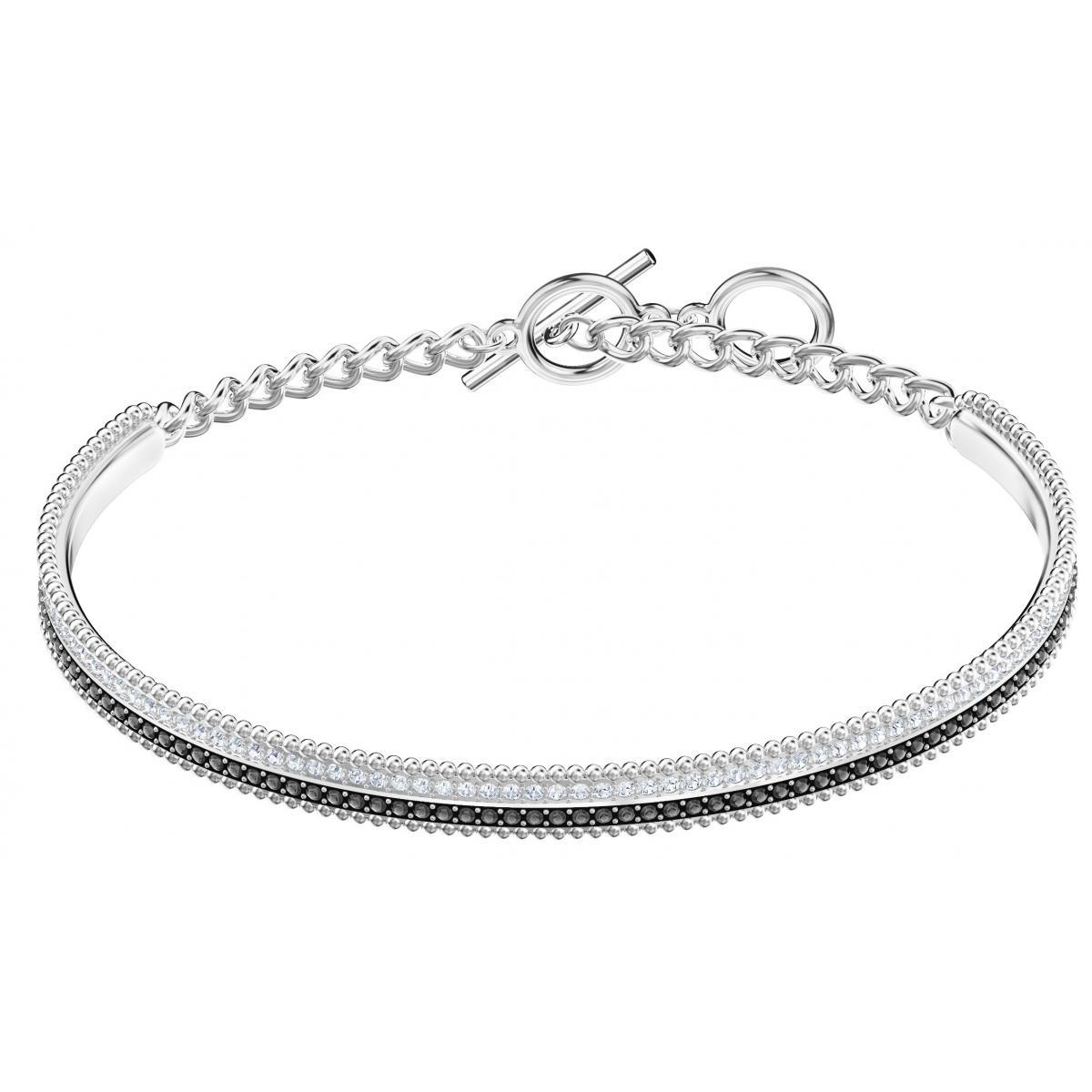 Bracelet Swarovski Bijoux 5424233 - Acier Argenté et Noir Cristaux  Swarovski Femme