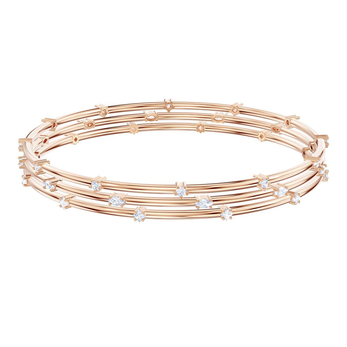 Bracelet Swarovski - Bracelet Doré Rose Cristaux Femme