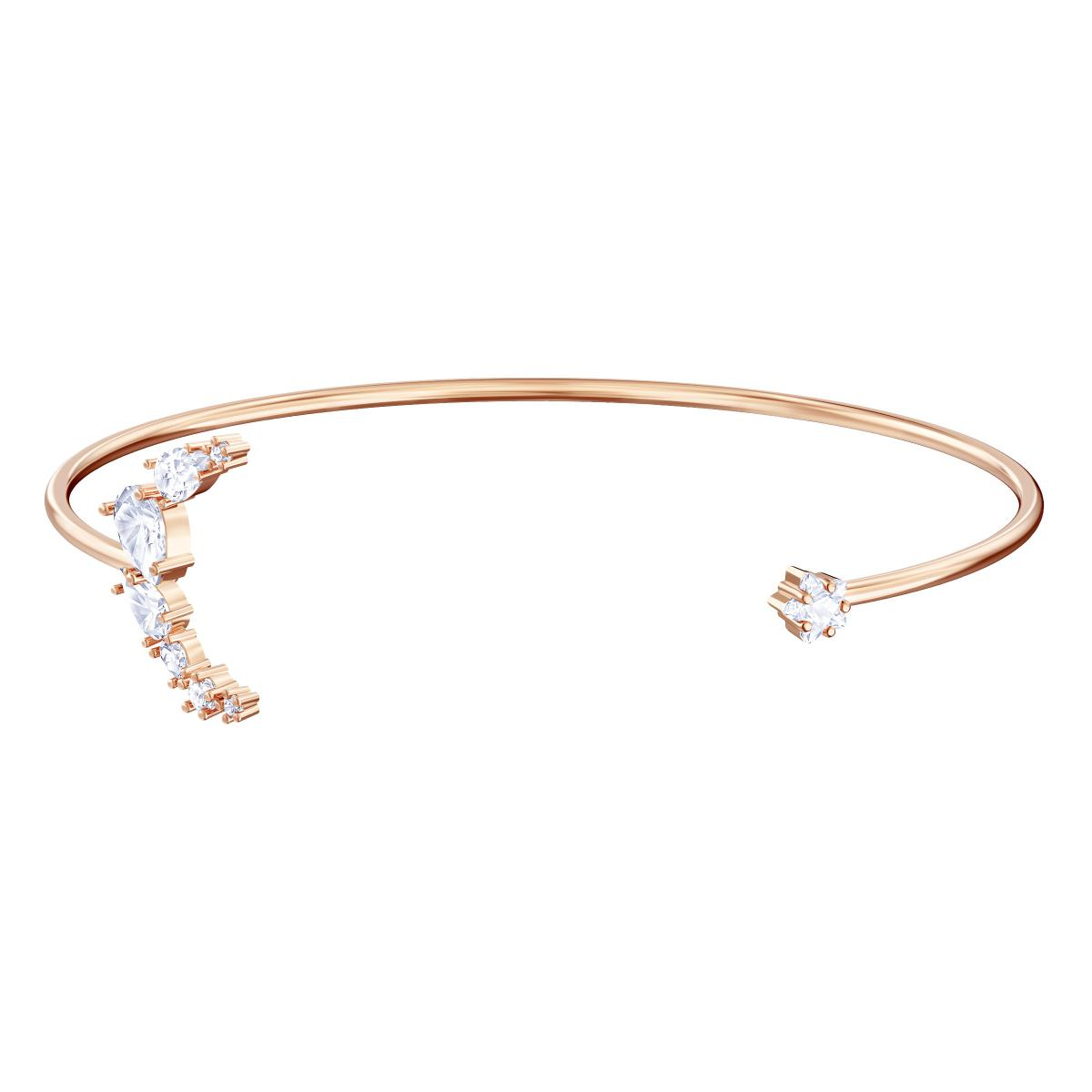 Bracelet Swarovski - Bracelet Doré Rose Lune Cristal Femme
