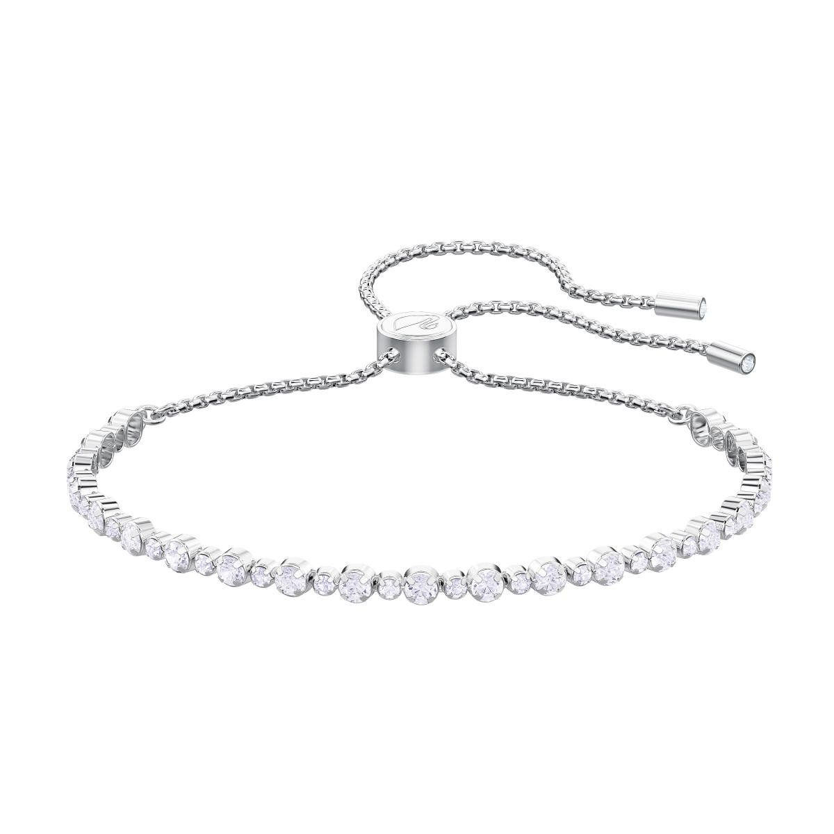 Bracelet Swarovski 5465384 - Bracelet Timeless Elegance Argenté Cristaux  Ajustable Femme