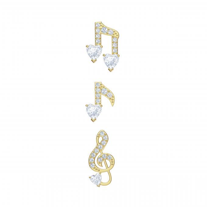 Bracelet Swarovski 5491658 Doré Note De Musique Sertie