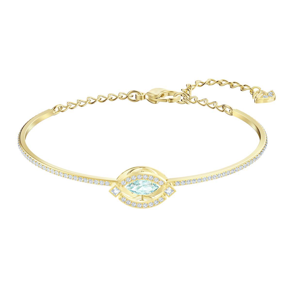 Bracelet Swarovski 5497476 - Métal Doré Oeil de cristal étincelant Femme