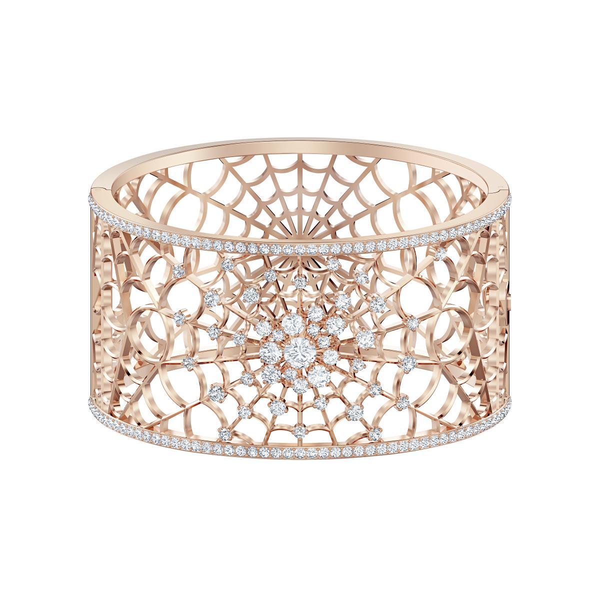 Swarovski authentique bracelet Circle métal rhodié neuf