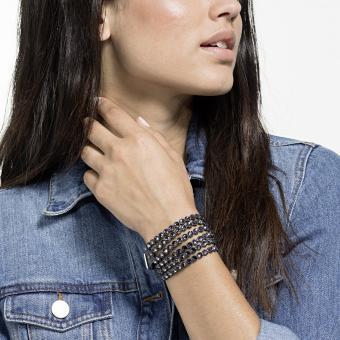 bracelet swarovski noir slake