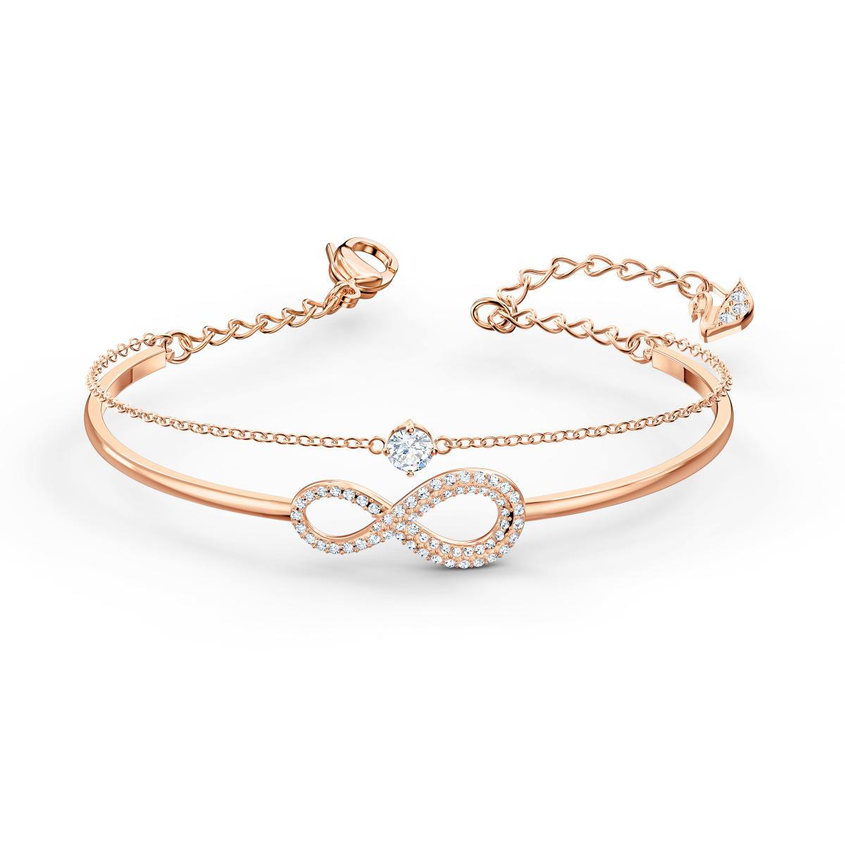 Bracelet Swarovski 5518871 - Bracelet or doré infini Femme
