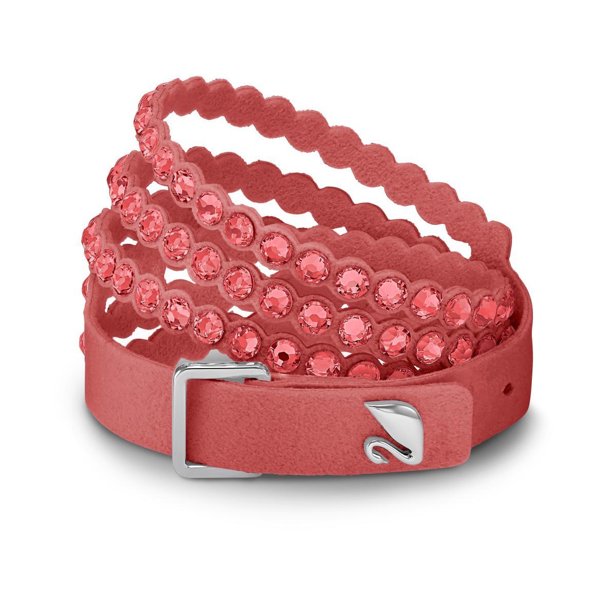BRACELET Swarovski 5531287 - Bracelet Cuir Cristal rouge Femme