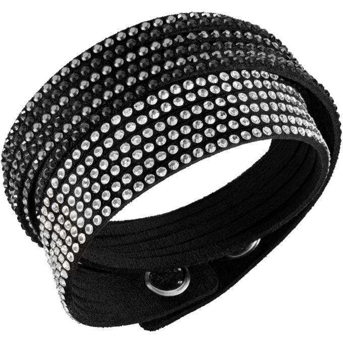 Favori Bracelet Swarovski 5142963 - Bracelet Slake Double Tour Femme sur  ZQ64