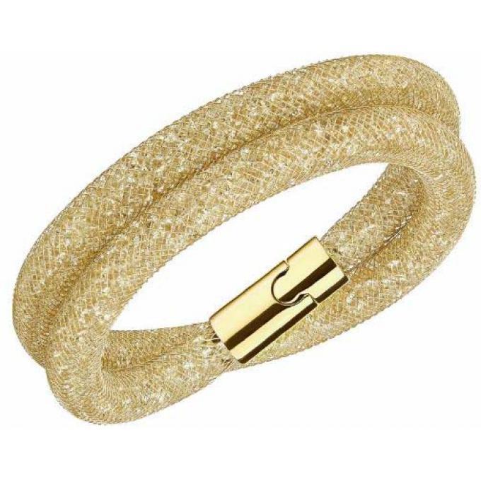 Bracelet Swarovski STARDUST 5159277 , Bracelet Double Tour Doré Femme