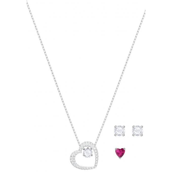 Collier Coeur Plus Boucles Coffret 5391766 D'oreilles Rouge Femme D'infos Swarovski m8n0wvON