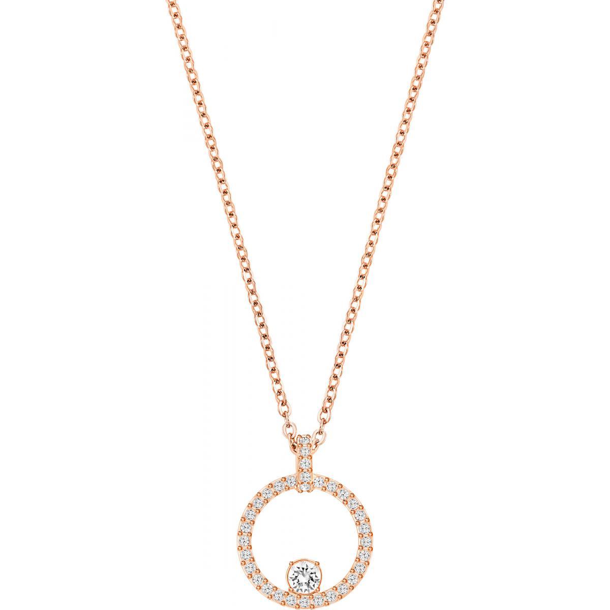 Collier et pendentif Swarovski 5202446 - Collier et pendentif Rond Doré  Femme
