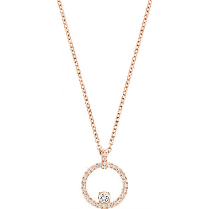 classic style online retailer entire collection Collier et pendentif Swarovski 5202446 - Collier et pendentif Rond Doré  Femme Plus d'infos