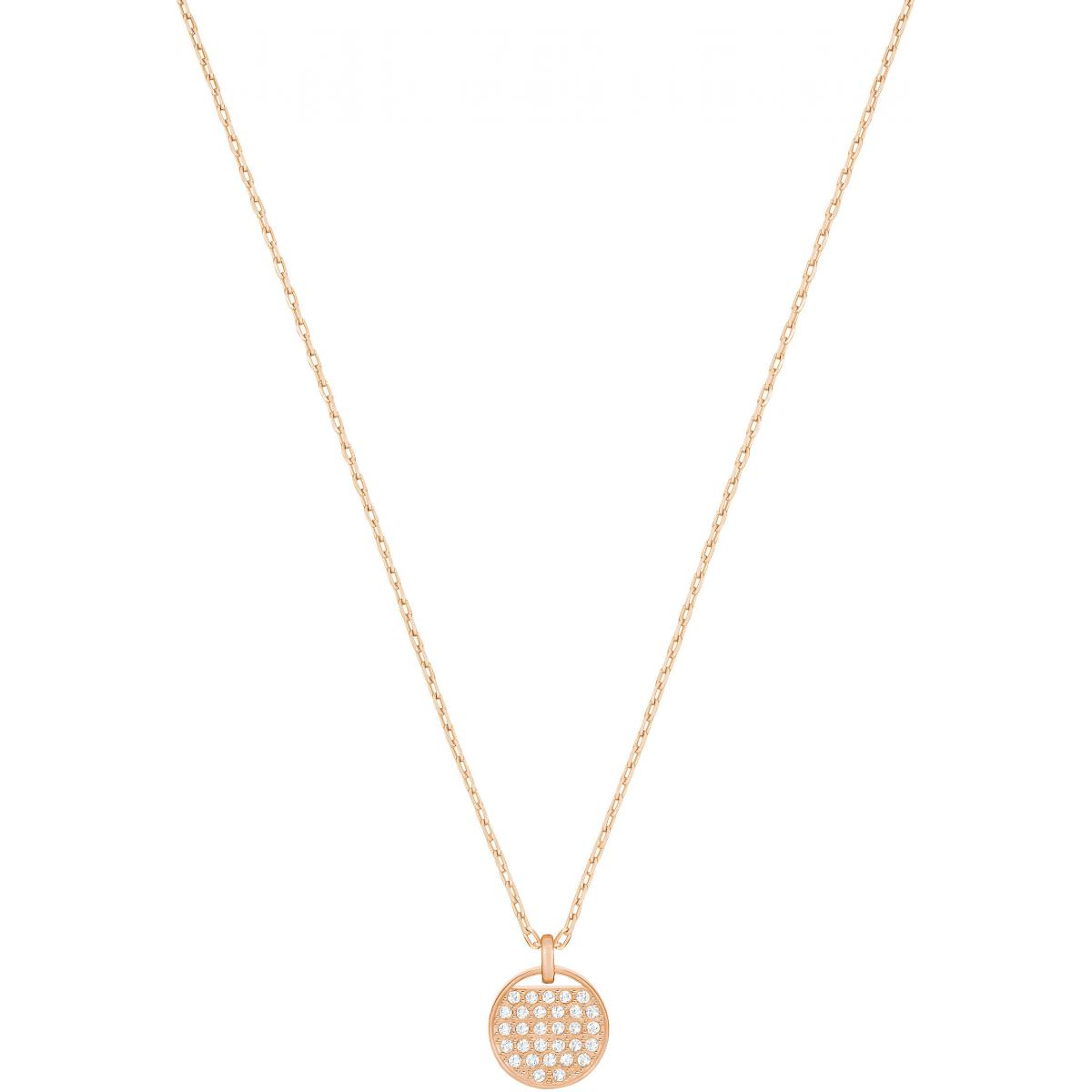 Collier et pendentif Swarovski 5265913 - Collier et pendentif Plaque Or  rose Femme