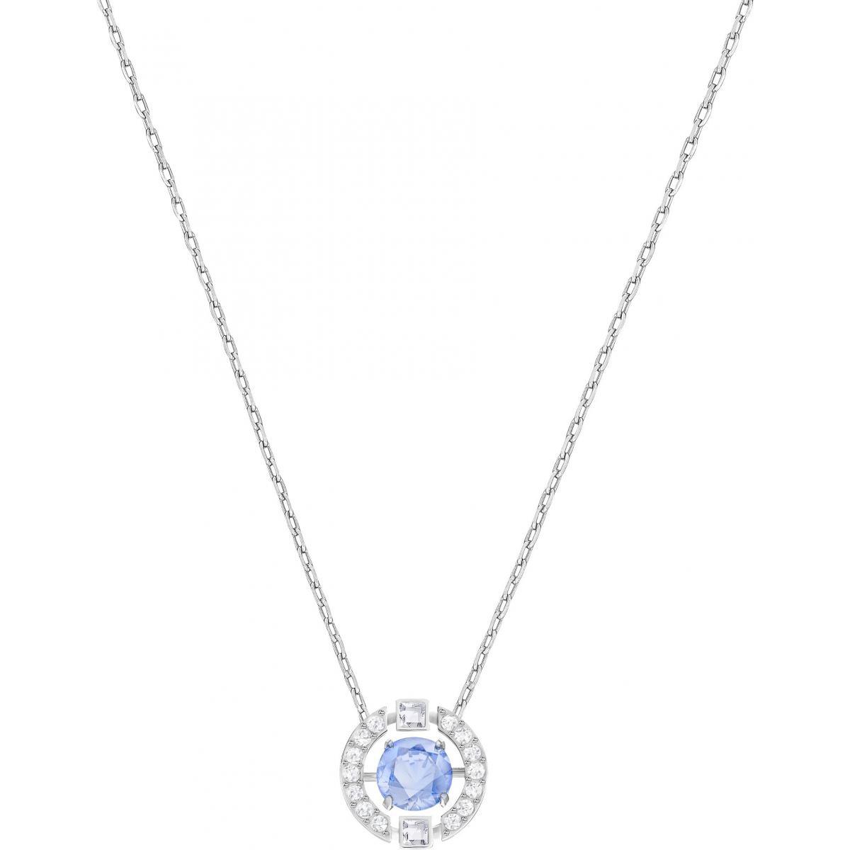 Collier et pendentif Swarovski 5279425 - Collier et pendentif Acier Cristal  Bleu Femme