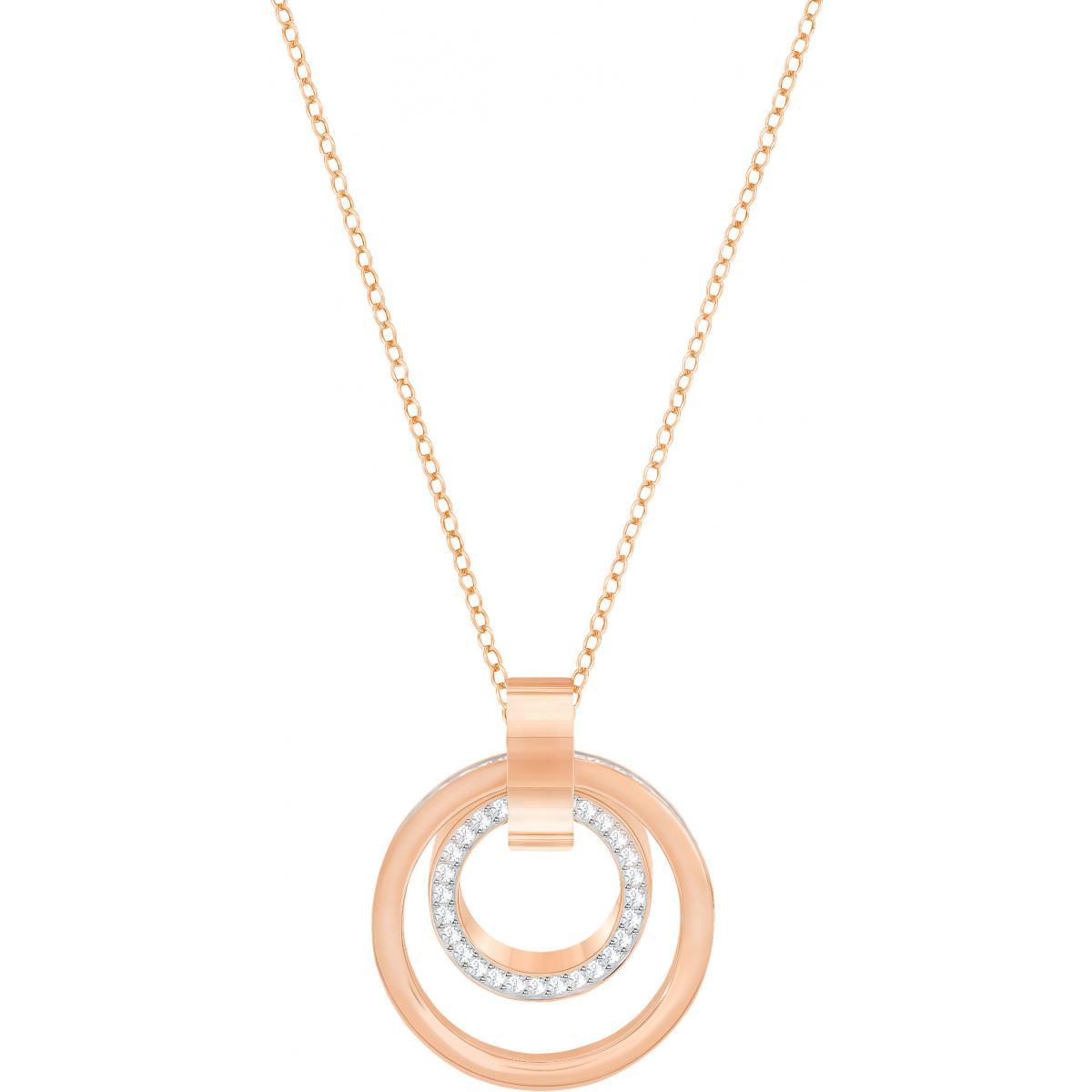 Collier et pendentif Swarovski Bijoux 5349418 - Collier et pendentif  Cristaux Swarovski doré rose Femme