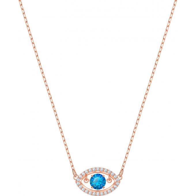 en arrivant pas cher pour réduction comparer les prix Collier et pendentif Swarovski 5448611 - Collier et pendentif Œil avec  Cristal Bleu Flottant Femme Plus d'infos
