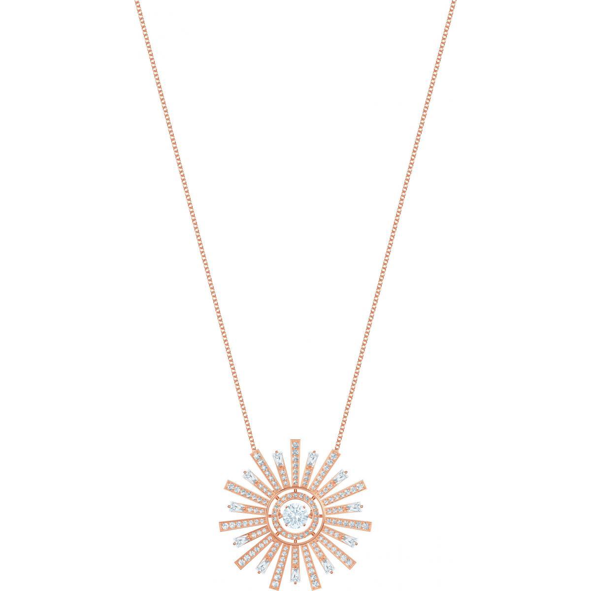bijoux collier médaillon swarovski femme