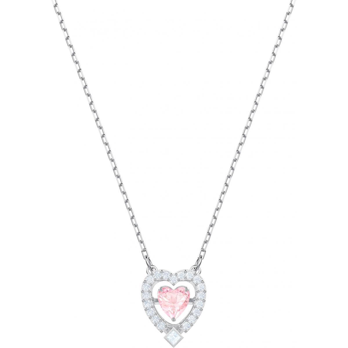 Collier et pendentif Swarovski 5465284 - Collier et pendentif Argenté Cœur  Rose Femme