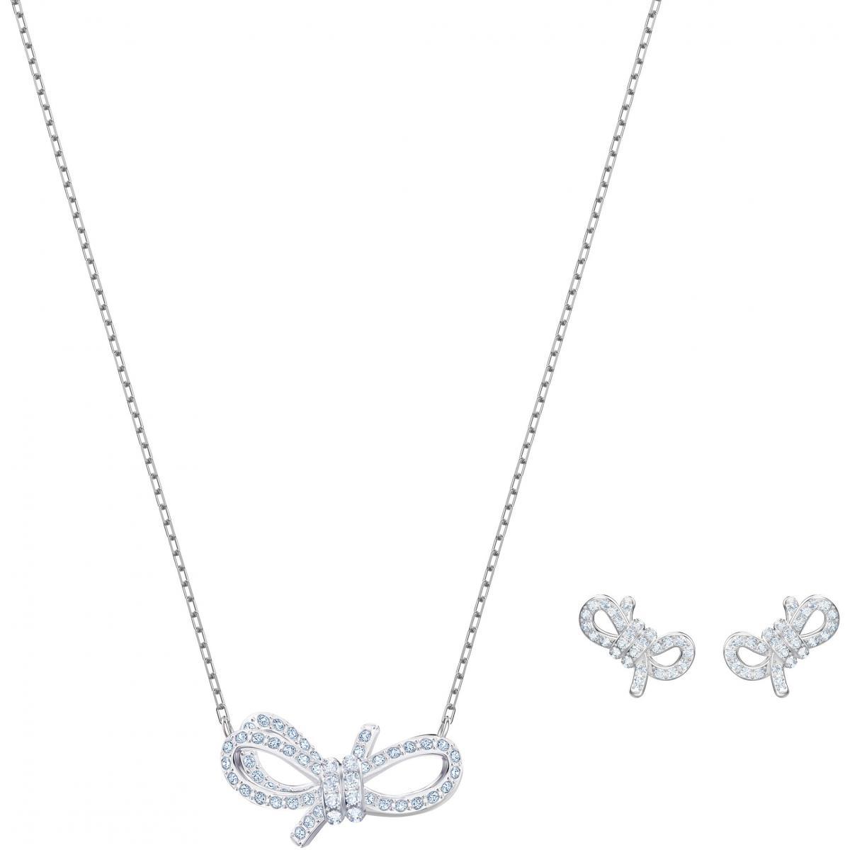 Collier et pendentif Swarovski 5470594 - Collier et pendentif Set Nœud  Papillon Argentée Femme