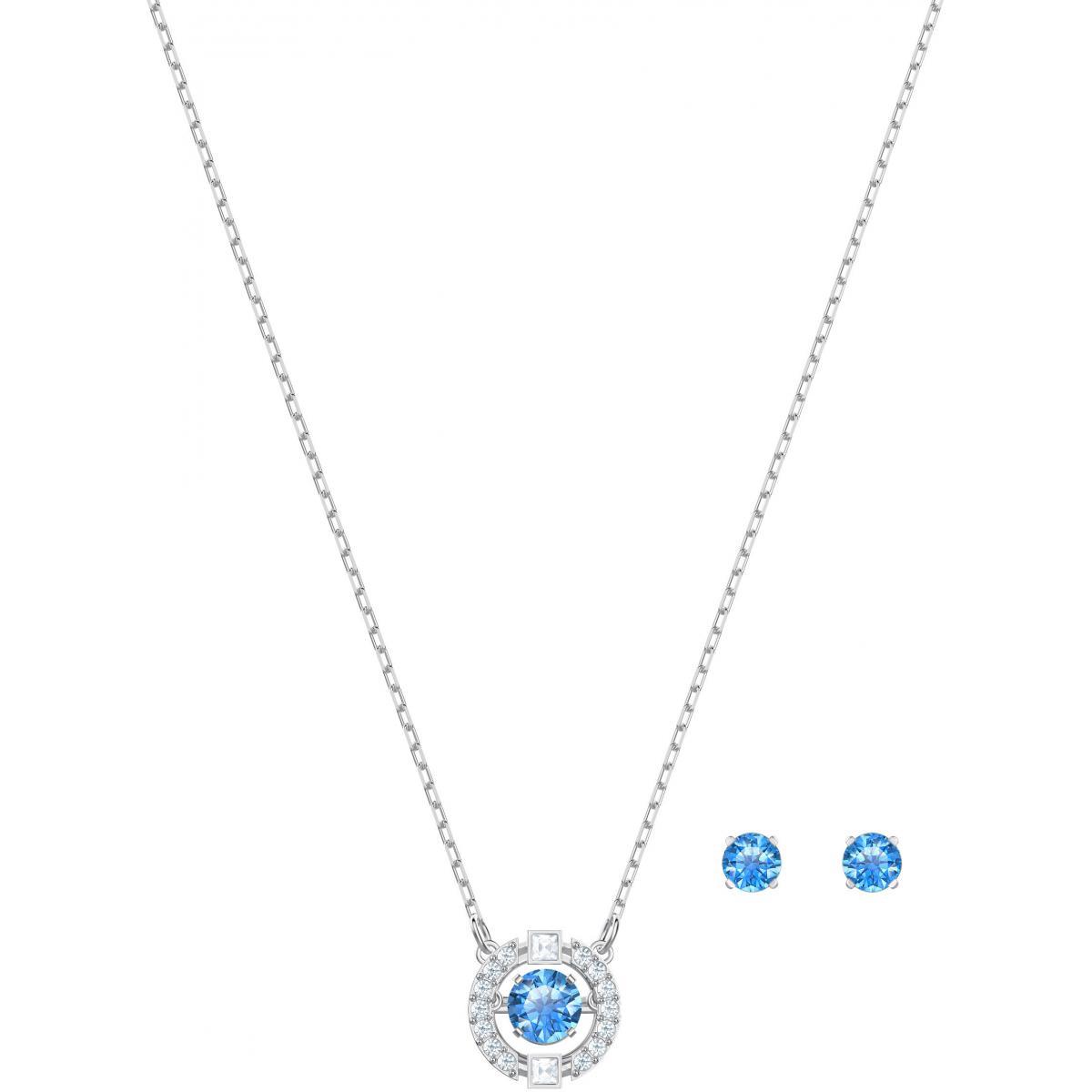 Collier et pendentif Swarovski 5480485 - Collier et pendentif Set Cristaux  Bleus Femme