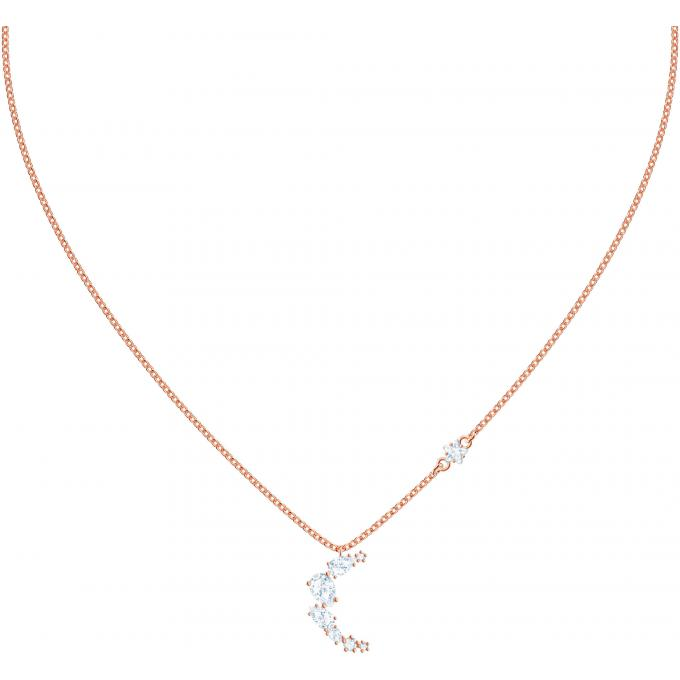 Pendentif 5486357 D'infos Rose Et Plus Swarovski Doré Collier Lune Femme Demi m80NnyvOPw