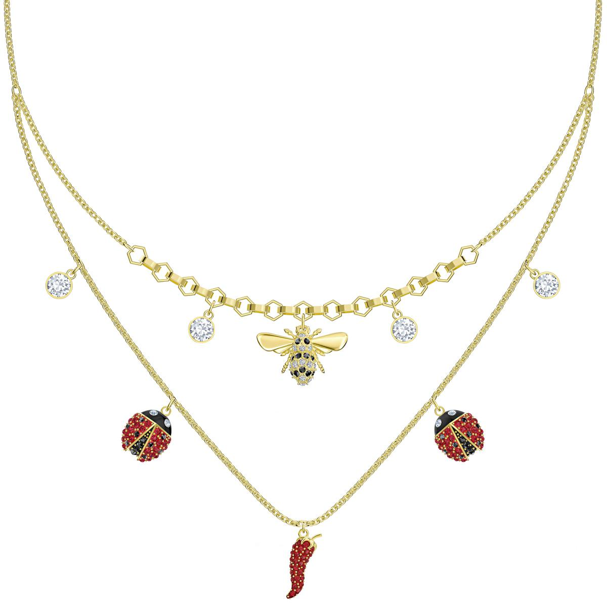 collier double femme swarovski