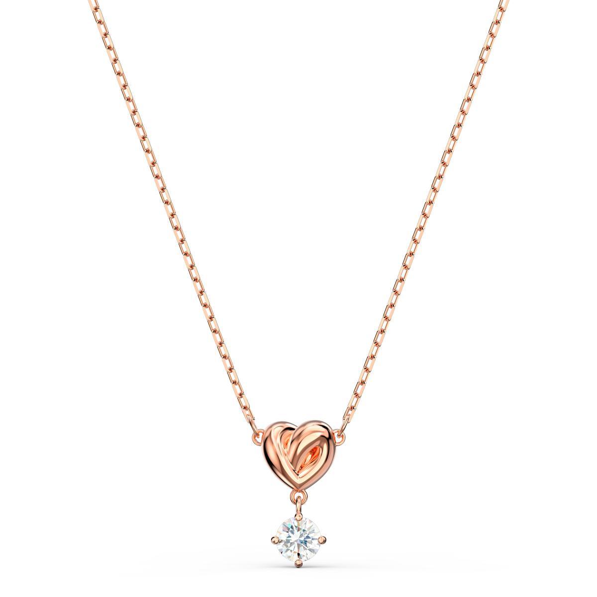 Collier Swarovski 5516542 - Collier Métal or doré Cœur et pierre brillante  Femme