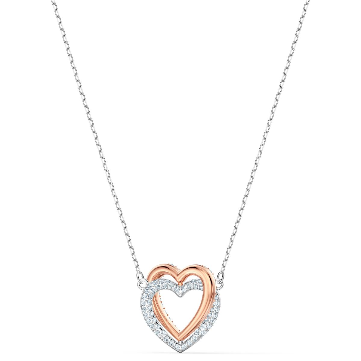 Collier Swarovski 5518868 - Collier Argenté et doré cœur Femme
