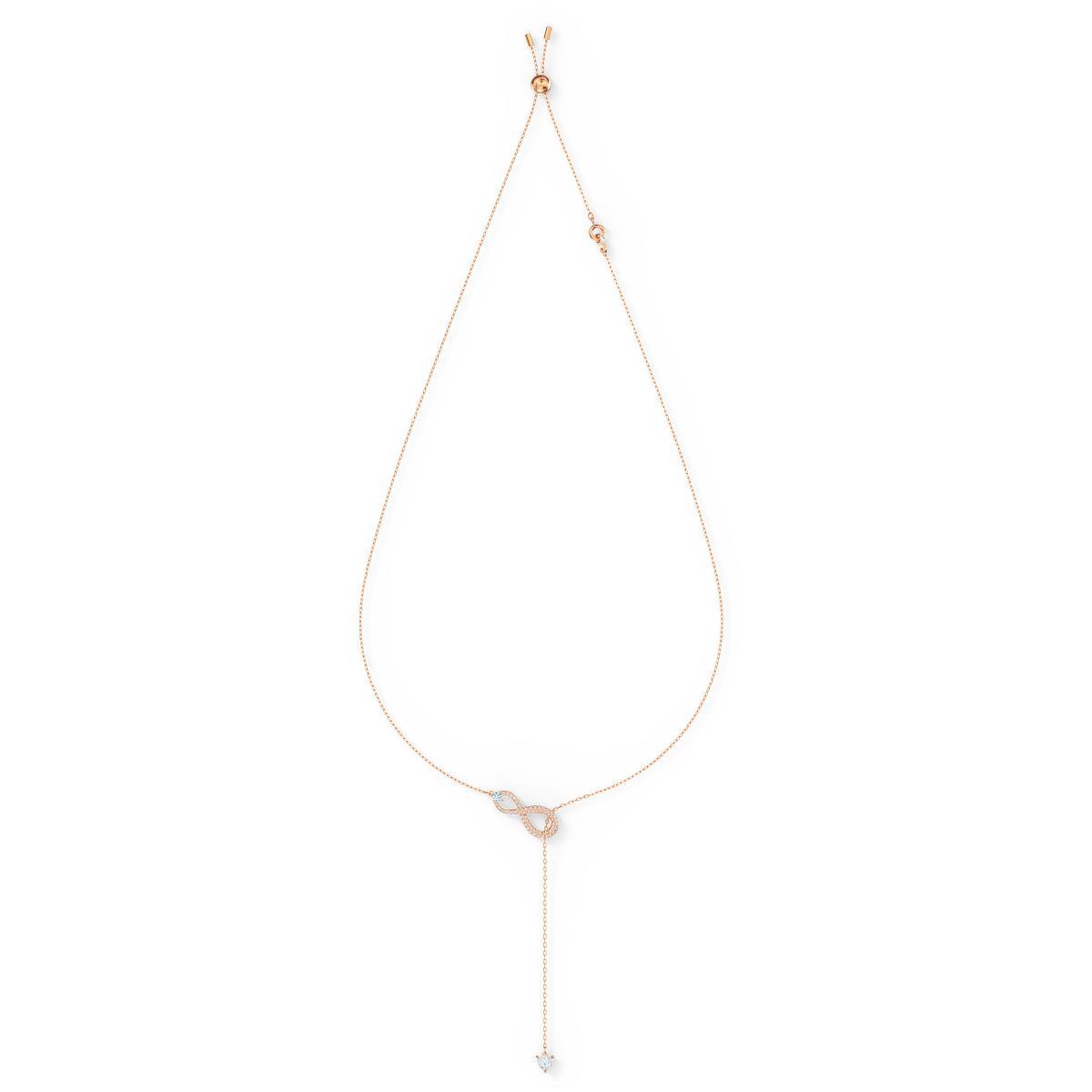 Collier Swarovski 5521346 - Collier doré pendentif infini et chaine Femme