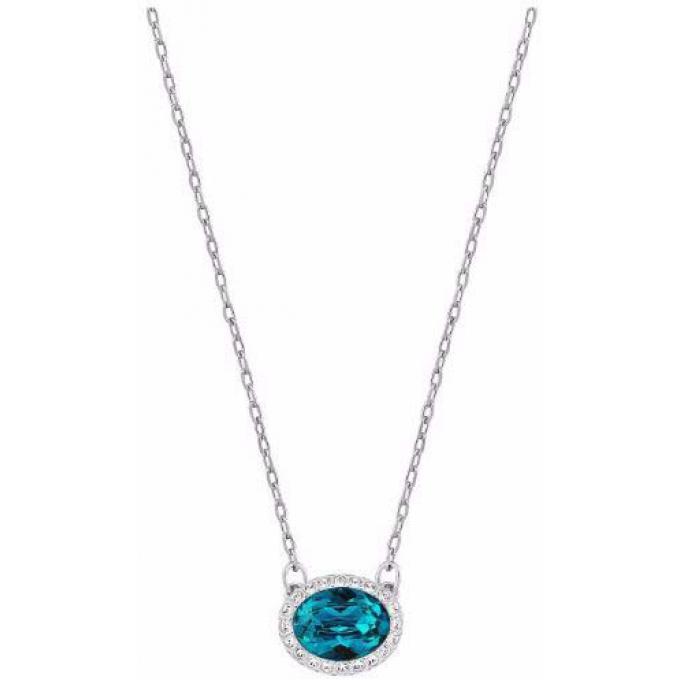 Collier Swarovski 5159175 , Collier Cristal Bleu Femme. Bijoux Femme
