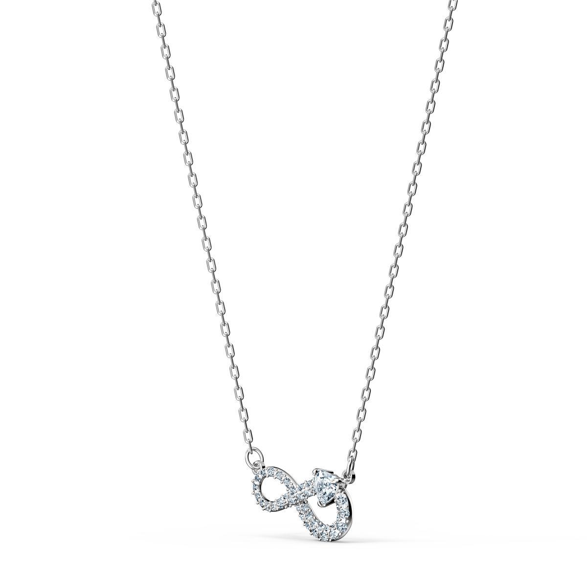 Collier Swarovski 5520576 - Collier étincelante pendentif Infini Femme