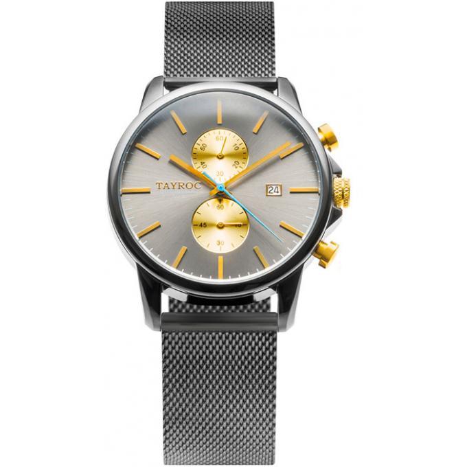 montre tayroc ty14 montre acier gris homme sur bijourama montre homme pas cher en ligne. Black Bedroom Furniture Sets. Home Design Ideas