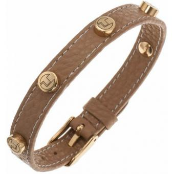 Acier Cuir Camel - Ted lapidus bijoux - Ted Lapidus Bijoux