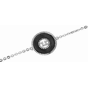 Métal Rhodié  Email Noir - Ted lapidus bijoux - Ted Lapidus Bijoux