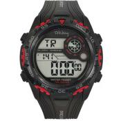 Montre Tekday Ronde Calendrier Rouge 655845 - Promos