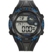 Montre Tekday Ronde Calendrier Bleue 655846 - Promos