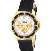 Montre The Fresh Brand BFR80052-103 - Montre Cuir Noir Femme