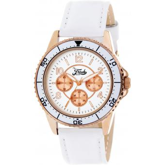 Montre The Fresh Brand BFR80052-801 - Montre Cuir Blanc Femme