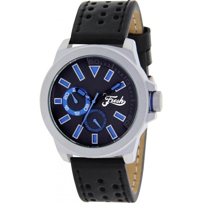 Montre The Fresh Brand BFR50251-208 - Montre Cuir Noir Homme