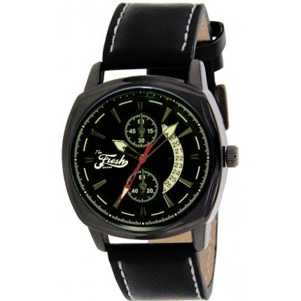 Montre The Fresh Brand BFR50311-903 - Montre Cuir Noir Homme