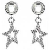 Boucles d'oreilles Thierry Mugler Bijoux Étoiles Cristal Argentées T31278Z