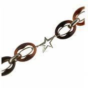 Bracelet Thierry Mugler Bijoux Grosse Chaine Marron T51269MZ