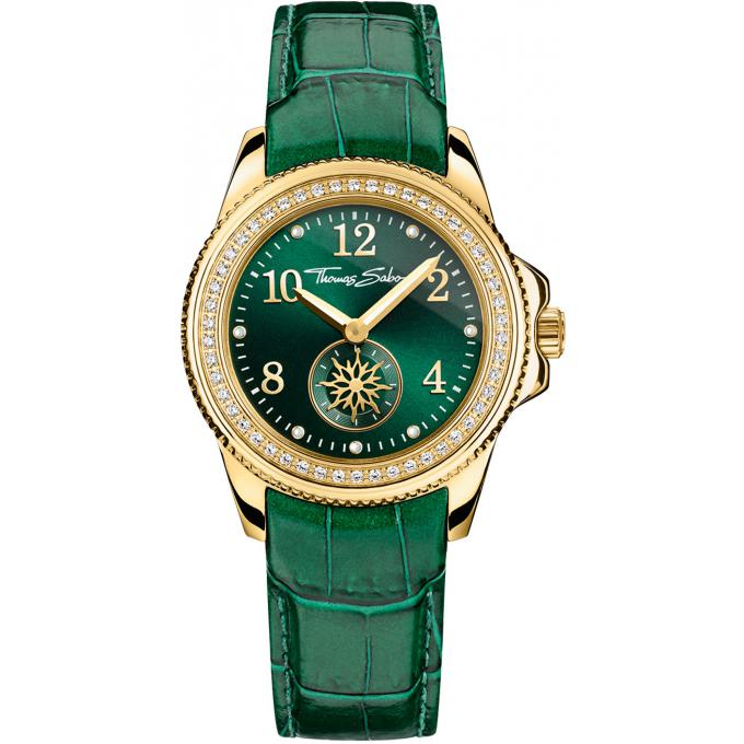 montre thomas sabo glam soul wa0255 276 211 montre chronographe cuir verte femme sur. Black Bedroom Furniture Sets. Home Design Ideas