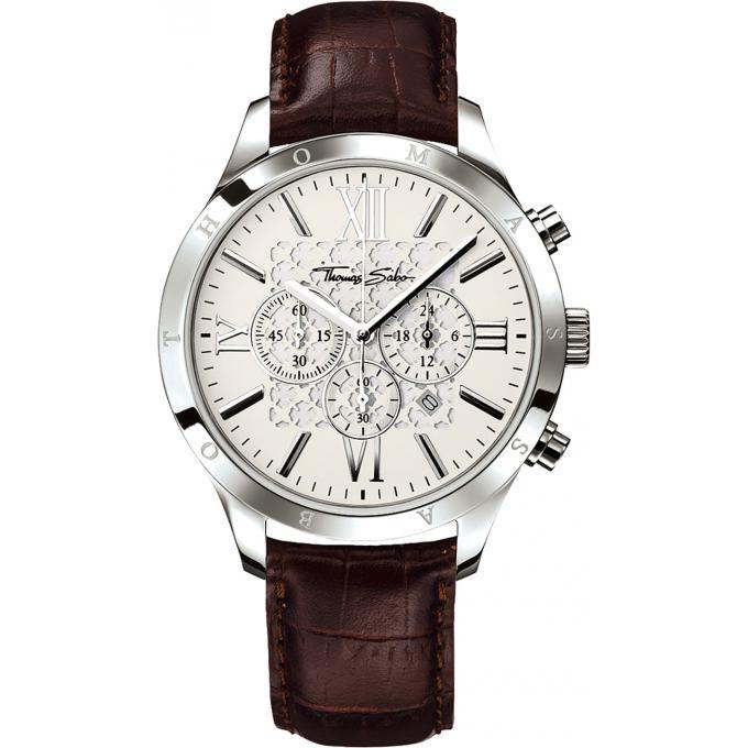 montre thomas sabo rebel at heart wa0016 212 201 montre chronographe cuir marron homme sur. Black Bedroom Furniture Sets. Home Design Ideas
