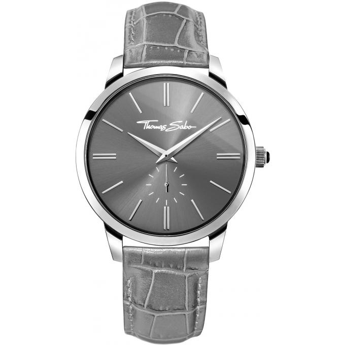 montre thomas sabo rebel at heart wa0261 273 210 montre cuir grise croco homme sur bijourama. Black Bedroom Furniture Sets. Home Design Ideas