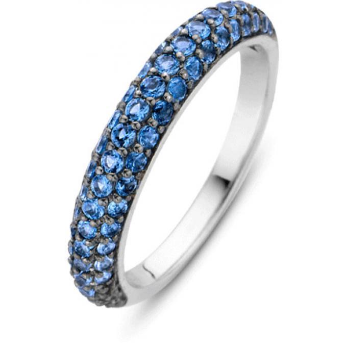 bague ti sento 12105db bague argent anneau pav bleu femme sur bijourama r f rence des bijoux. Black Bedroom Furniture Sets. Home Design Ideas
