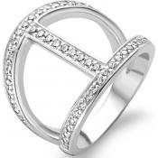Bague Argent Strass - Ti Sento - Chic