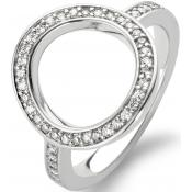 Bague Ronde Argent Strass - Ti Sento - Chic
